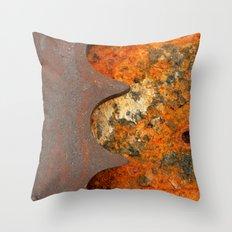 Rusty Gear Throw Pillow
