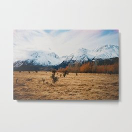 Peaceful New Zealand mountain landscape Metal Print
