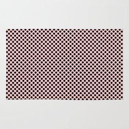 Rose Quartz and Black Polka Dots Rug