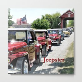 Jeepster Line Up Metal Print