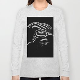 0686-AR BW Contemporary Art Nude Large Woman BBW Graceful and Strong Long Sleeve T-shirt