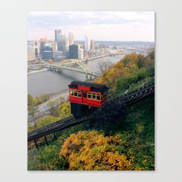 An Autumn Day on the Duquesne Incline in Pittsburgh, Pennsylvania Canvas Print