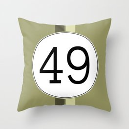 Rally 49 Throw Pillow