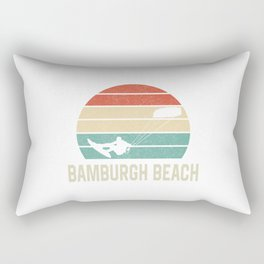Bamburgh Beach Kitesurfing EU Bulk Kiteboarder TShirt Kite Boarding Shirt Kite Surfing Gift Idea  Rectangular Pillow