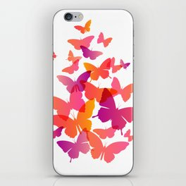 Butterfly Pink Butterflies Flying Off iPhone Skin