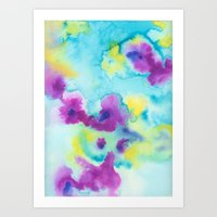 tie dye Art Prints featuring Tie-Dye by Tatiana Shaffer