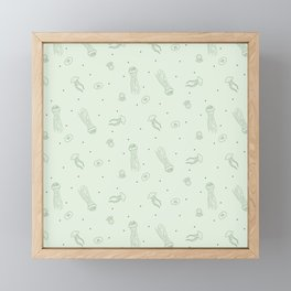 Jellyfish in Green Framed Mini Art Print