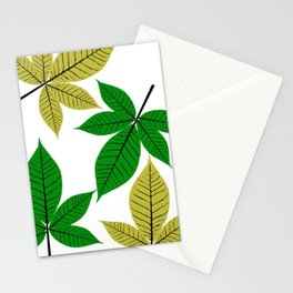 Horse Chestnut Leaves Stationery Cards