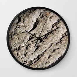 TEXTURES: Walnut Bark Wall Clock