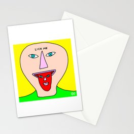 Lick me (dude with creepy tongue) Stationery Cards