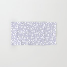Block Printed Dusty Purple and White Stars Hand & Bath Towel