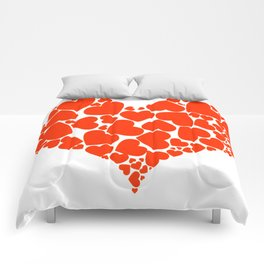 A Heart Full Of Love Red Valentine Hearts Within A Heart Comforters