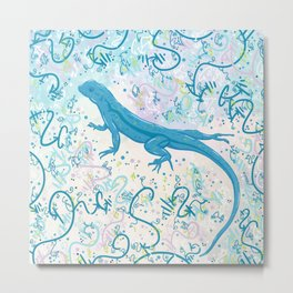 Marvelous Little Lizard Metal Print