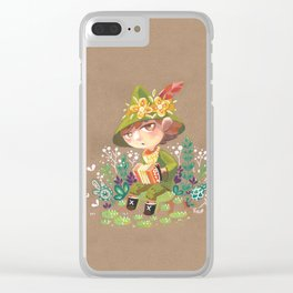 Snufkin playing Accordion Clear iPhone Case