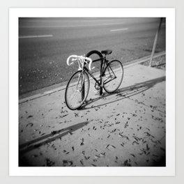 Bike on Holga Art Print