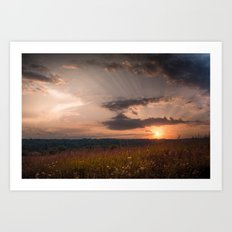 In the middle of the Summer Art Print