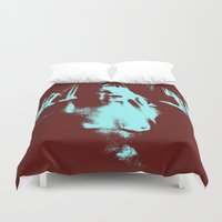 psycho Duvet Covers featuring Psycho by Groovyal