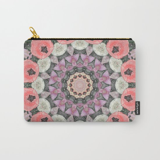 Wax Mandala Tulips Carry-All Pouch