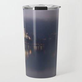Misty Lake Bled At Night Travel Mug