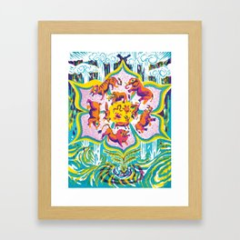 """""""The Real Landscapes of the Great Flood Myths"""" by Kyle Stecker for Nautilus Framed Art Print"""