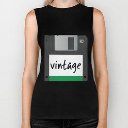 Vintage Floppy Disk Biker Tank