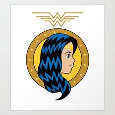Amazonian Woman of Wonder Art Print