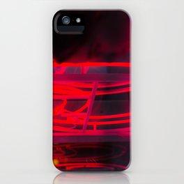 Néons rouges portrait iPhone Case