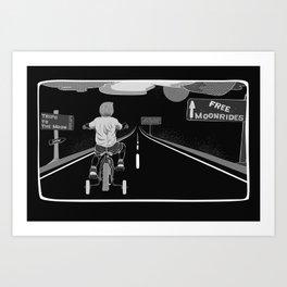 Moonrides Art Print
