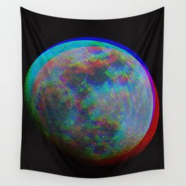 TRIPPY MOON Wall Tapestry