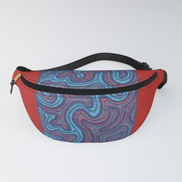 Stitches - Coral Fanny Pack