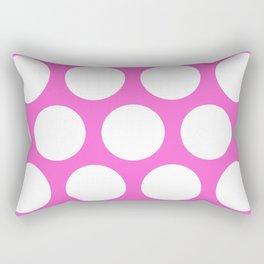 Pink Large Polka Dots Rectangular Pillow