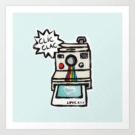 clic clac pola Art Print