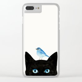 Cat and Bird Clear iPhone Case