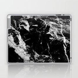 Dark marble black white stone1 Laptop & iPad Skin