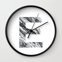 The Letter E- Stone Texture Wall Clock