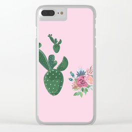 live loud with floral Clear iPhone Case