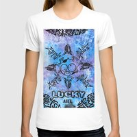 n7 T-shirts featuring Lucky goes pop n7 by Lucky art