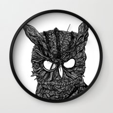 Demon Owl Wall Clock