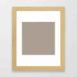 simply taupe Framed Art Print