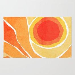 Modern Mid-Century Desert Sunset Rug