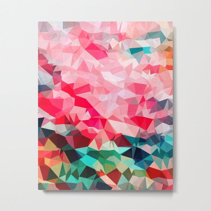 Polygon Pattern II Metal Print