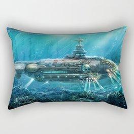 Steampunk Submarine Rectangular Pillow