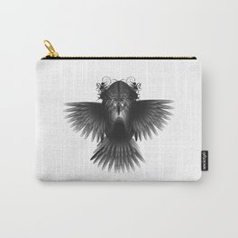 Strange Hummingbird 1.Black on white background. Carry-All Pouch