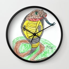 Egyptian Cobra Wall Clock