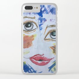 Fragments Of a Face Clear iPhone Case