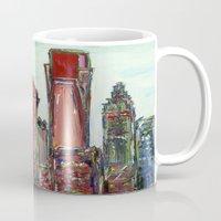 philadelphia Mugs featuring Philadelphia Skyline by Britt Miller Art