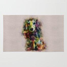 Dachshund Puppy Sketch Paint Rug
