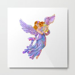 The Antique Angel Muse - Love of Poetry Metal Print