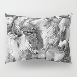 AnimalArtBW_Horse_20170801_by_JAMColorsSpecial Pillow Sham