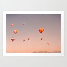 vintage hot air balloons in rio Art Print